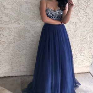 Small navy blue prom dress